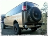 Aluminum Off Road Tire Rack Chevy Van