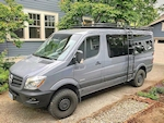 Sprinter 144 Low Roof Aluminess Aluminum Roof Rack with Slats