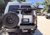 Ford Van Aluminum Off Road Rear Bumper with Bike Rack Swing Arm
