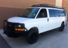 "Chevy Express Roof Rack - Double Loop with 3"" Slats w/ 2.5 Gap"