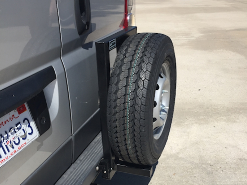 Dodge Promaster Tire Rack Aluminess