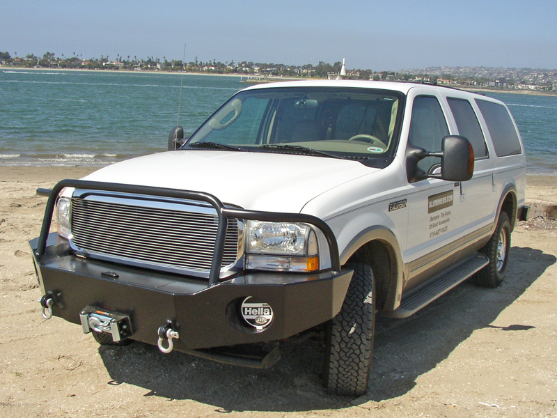 Excursion Bumpers Winch : Ford excursion front winch bumper aluminess