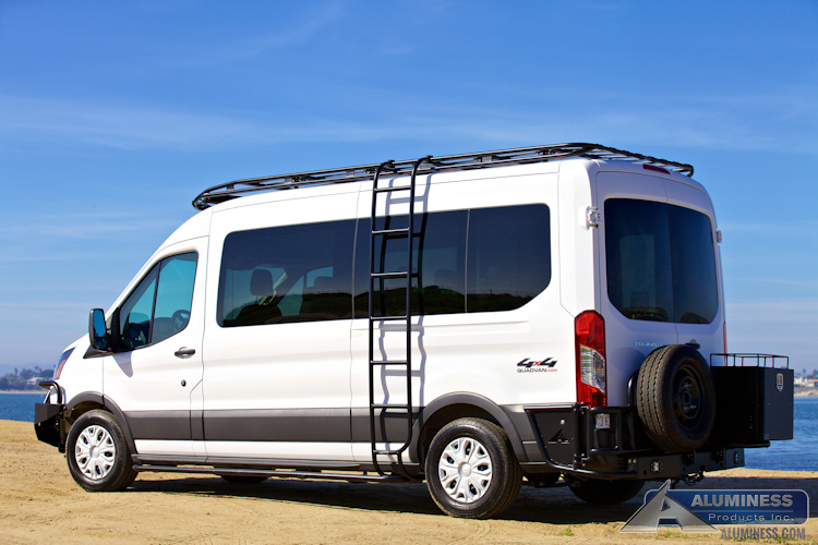 Ford Transit Side Ladder Aluminess