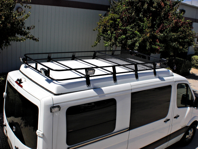 roof side rack aluminess econoline van racks rails ford