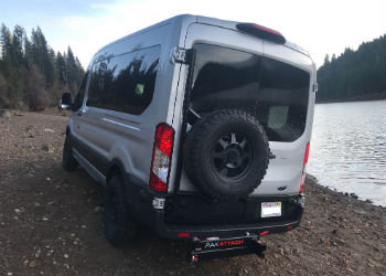 Ford Transit Aluminum Rear Door Tire Rack