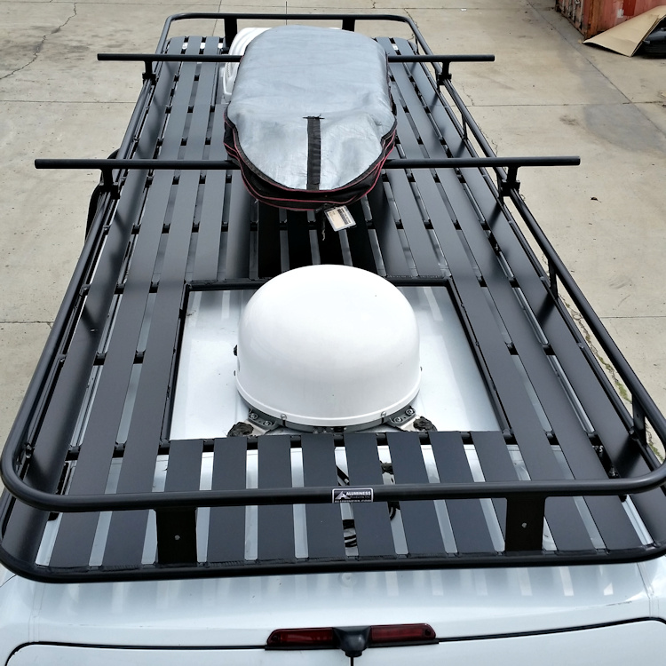 Aluminum Roof Rack with Tight Slats