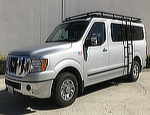 Nissan NV Low Roof Aluminess Double Loop Roof Rack with Slatted Flooring