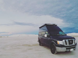 Nissan NV High Roof Rack - Double Loop with Perforated Flooring