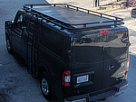 Nissan NV Low Roof Aluminess Double Loop Roof Rack with Perforated Flooring