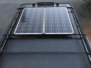 Solar Panel Mount (Clamps to Aluminess roof rack)